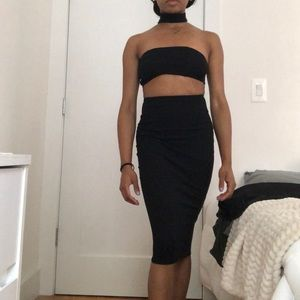 Boohoo Night Black Bodycon Dress